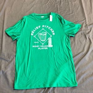 """Old Navy """"Relief Pitcher"""" t-shirt NWT!  Sz. L"""